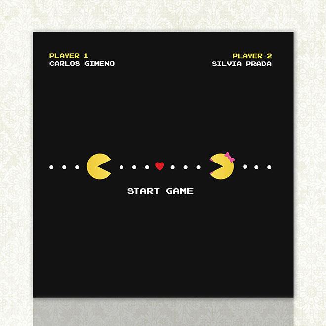 Convite de casamento criativo - Pacman