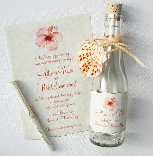 Convite de casamento criativo - na garrafa