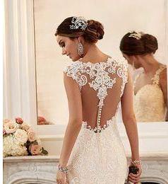 Como escolher o vestido perfeito para casamento - costas de vestido de noiva